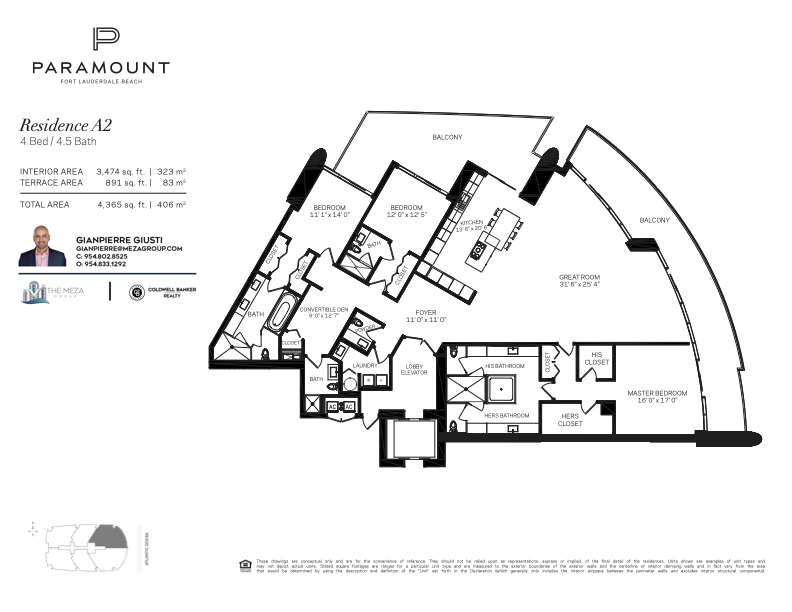 Paramount Residence A2 Floor Plan
